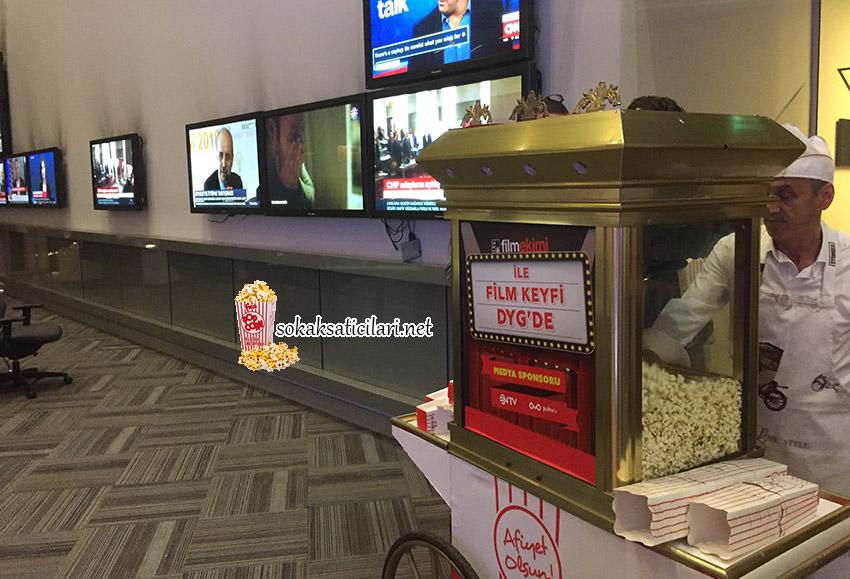 İstanbul Popcorn Arabası Ve Patlamış Mısır Arabası