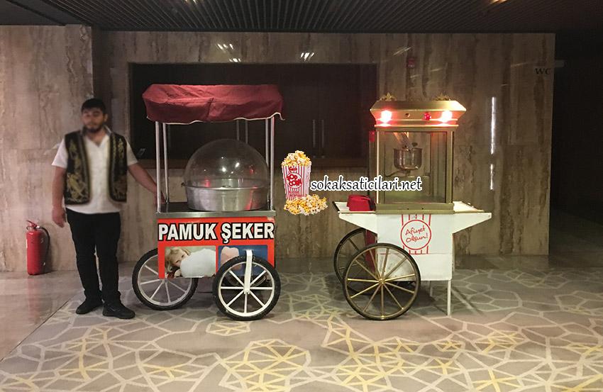 hilton oteli güneşli pamuk şekeri ve popcorn dağıtımı