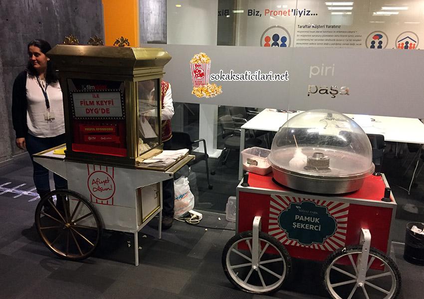 pamuk şeker arabası popcorn arabası