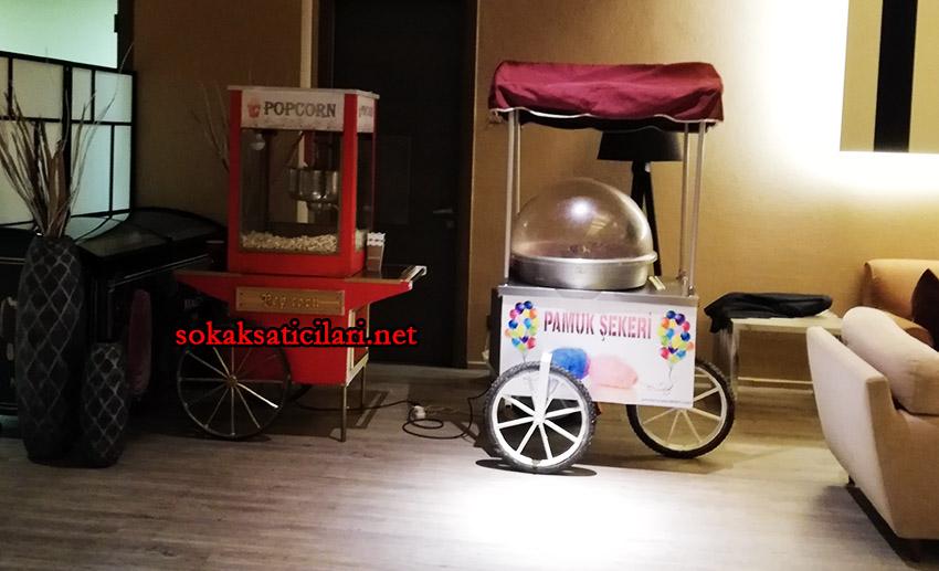 patlamış mısır arabaları ve popcorn arabaları